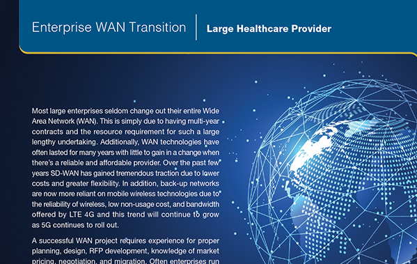 SD-WAN Large Healthcare Provider FI